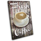 Coffee Vintage Shabby Food Kitchen SINGLE CANVAS WALL ART Picture Print