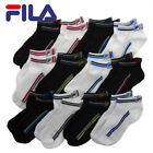 12 Pairs Men's/Boy's FILA Ankle Sport Socks Shock Dry Low Cut Black White Pack