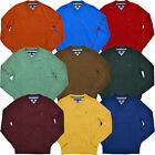 Tommy Hilfiger Sweater Mens Pima Cotton V-Neck Long Sleeve Classic Pullover
