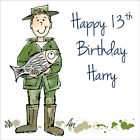 Quality Personalised Angling / Fishing BIRTHDAY CARD ~ ANY AGE & NAME Boys Mens