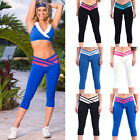 Womens Yoga Pants Body Compression Base Layer Leggings Gym Fitness Sport Trouser
