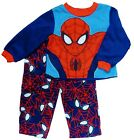 SPIDER-MAN Fleece Pajamas Sleepwear Set (Size 4T) & Slippers (Sz. 11-12) NWT $42