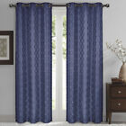 """Willow Jacquard Thermal Insulated Blackout Window Curtain Panels 84 x 96"""" Pair"""
