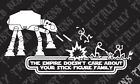 star wars empire doesnt care stick family funny car truck vinyl decal sticker $5.99 USD on eBay