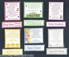 6 EASTER Greeting Card Craft Verse Toppers & 6 Matching Sentiment Banners