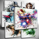 Choose your Marvel AVENGERS paint splatter CANVAS Wall Art Picture