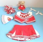 BUILD A BEAR GIRL'S CLOTHES- VALENTINE'S DAY RED CHEERLEADER  OUTFIT w-EXTRAS!
