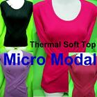 New Luxury Modal Thermal Warm Top Soft Women Slim Shirt Top Winter Autumn Sexy