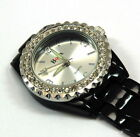 Boxx Ladies Enamel Stone Set Bezel Nurses Beauticians Fob Watch Black or White