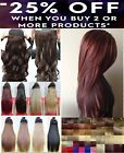 "Black 24"""" Long HAIR EXTENTION half head one piece 5 CLIPS UK best value Red"