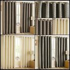 Tapas Lined Eyelet Curtains Spots Circles Dots Modern Ready Made Pair Ring Top