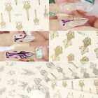 Nail Art Gold Silver 3D Stickers Decoration Tips Fashion DIY Goldfish Fox Decal