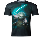 Star Wars Yoda T-Shirt Camisetas Vader Top Men Summer Sports Gym Fitness Running $20.67 CAD