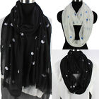 Women's Fashion Scarves Cute Cartoon Whales Print Casual Long/Infinity Scarf New
