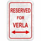 Reserved For Parking 8* x 12* Plastic Sign Names Female Va-Ve
