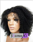 High Quality Afro Kinky Curly 100% Indian  Human remy hair Full /Front Lace Wigs