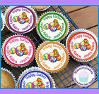 24 EASTER EGGS MIXED DESIGN CUPCAKE TOPPER RICE, WAFER or ICING