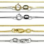 Guaranteed 10K or 14K Gold Box Chain Necklace Two Sizes - All Lengths image