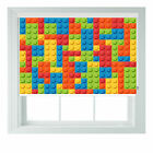 Building Blocks themed black out roller blind various sizes rollo