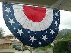 PATRIOTIC USA BUNTING July 4th AMERICAN FLAG POLYESTER DOUBLE SIDED 5 X 3 FT
