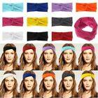 Women's Cotton Turban Twist Head Knot Headband Wrap Twisted Knotted Hair Band+++
