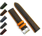 Genoa Genuine Padded Leather Layered 2-Colour Watch Strap 18mm 20mm 22mm D005