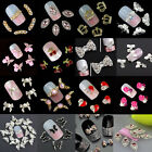 New Chic 10Pcs 3D Nail Art Glitter Decoration Colorful Alloy Rhinestones
