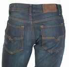 DIESEL Mens Regular Straight Denim Jeans LARKEE Embroidered INDIGO 30-40 $198