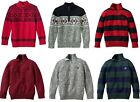 Chaps boys sweater pullover quarter-zip cotton kids size S, M, L, XL NEW