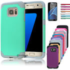 2016 Slim Hybrid Rugged Shockproof Rubber Armor Case Cover for Samsung Galaxy S7