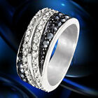 Women's Clear Cubic Zircon 18K Gold Plated Banquet Classic Party Ring Jewelry