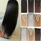 Full Head Clip - in Hair Extensions Synthetic Remy quality Dark Blonde Brown Red