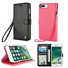 Leather Flip Cover Credit Card Wristlet Wallet Case For Apple iPhone 6 / 6S Plus
