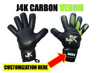 J4K CARBON VENOM GOALKEEPER GLOVE GOALIE KEEPER GK GLOVES SOCCER