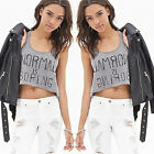 Ladies Sexy Casual Sleeveless Crop Top Womens Vest T-shirt Cami Tank Blouse New