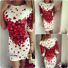 Vouge Womens Summer Flower Letter Bodycon Evening Sexy Party Cocktail Mini Dress