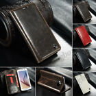 Luxury Retro Genuine Leather Wallet Case Cover Flip Stand For Various Cell Phone
