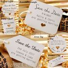 Personalised White Mini Wedding Save the Date Tags