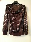 KAELYN MAX BLOUSE SIZE M MINK DETAIL ON NECKLASE ATTACH NEW WITH TAGS  BROWN
