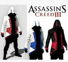 Assassin's Creed 3 Connor Kenway Jacke Umhang Hoodie Mantel Cosplay Kostüme Mann