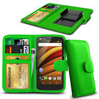 Clip On PU Leather Flip Wallet Book Case Cover For Motorola Moto G Turbo Edition