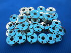 Metal Class 66 Sewing Machine Bobbins for Singer White #172222, Made In Taiwan