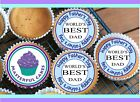 24 FATHER'S DAY DESIGN 1 CUPCAKE TOPPER RICE, WAFER or ICING