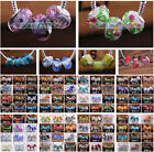 10pcs Murano Lampwork Glass Big Hole Beads Diy European Charms Bracelet Making