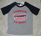 NWT Baby GAP Boys Licensed To Grill Patriotic Raglan Tee Top U Pick Size NEW