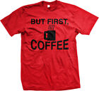 But First Coffee Cup Caffeine Caffe Joe Sleep Lazy Mens T-shirt