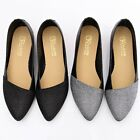 BN Comfy Casual Pointed Toe Shimmery Bling Pointed Toe Ballerina Ballet Flats