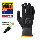 Maxisafe Working Gloves Cut Resistant Proof High Density PU Palm Work Safety NEW