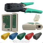 RJ45 Cat5e Cat6 Network Ethernet LAN Cable Tester Crimper Punch Down Tool Kit UK