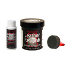 Leather Refinish Color Restorer Dye & Cleaner/Conditioner-Preparer Combo Kit
